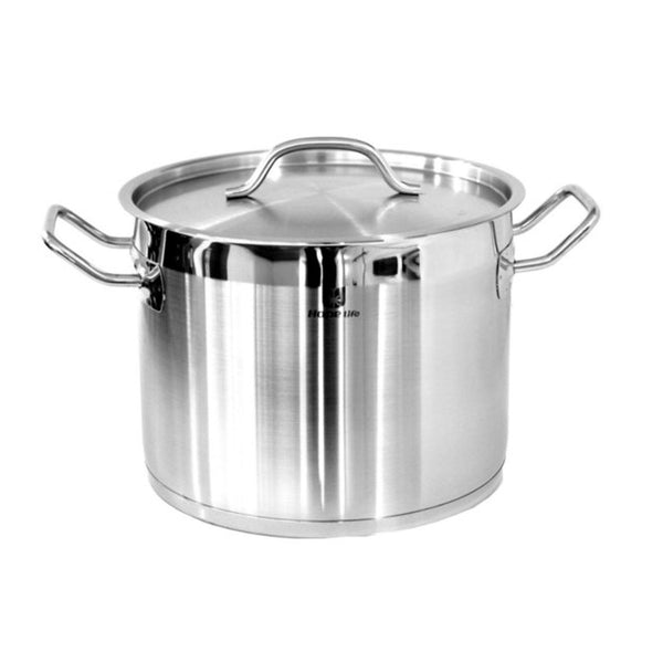7 Litre Stock Pot - 24 Cm Stainless Steel Induction Compatible-Stainless Steel Cookware-Chef's Quality Cookware