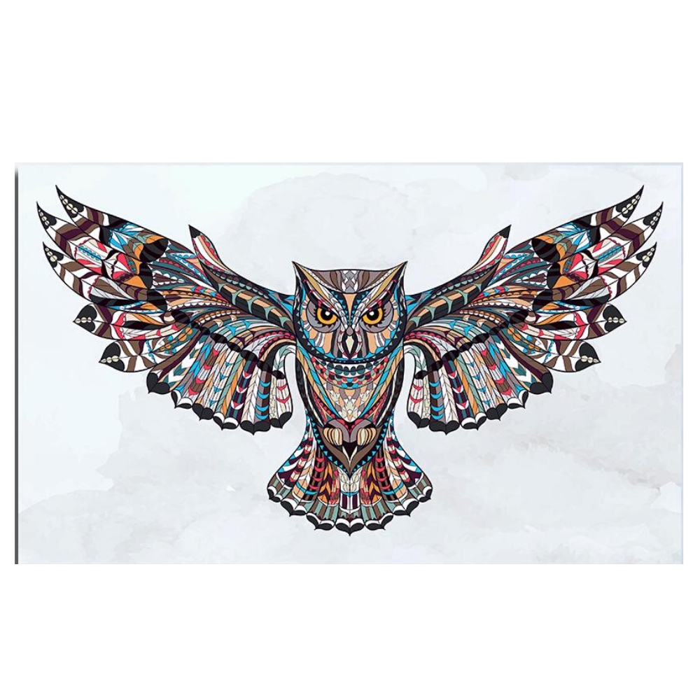 Night Owl In Flight - Canvas Wall Art