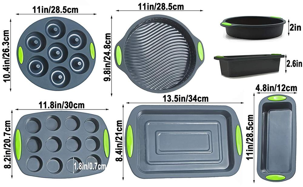 Deluxe Silicone Baking Set - Cake, Muffin & Doughnut Tins