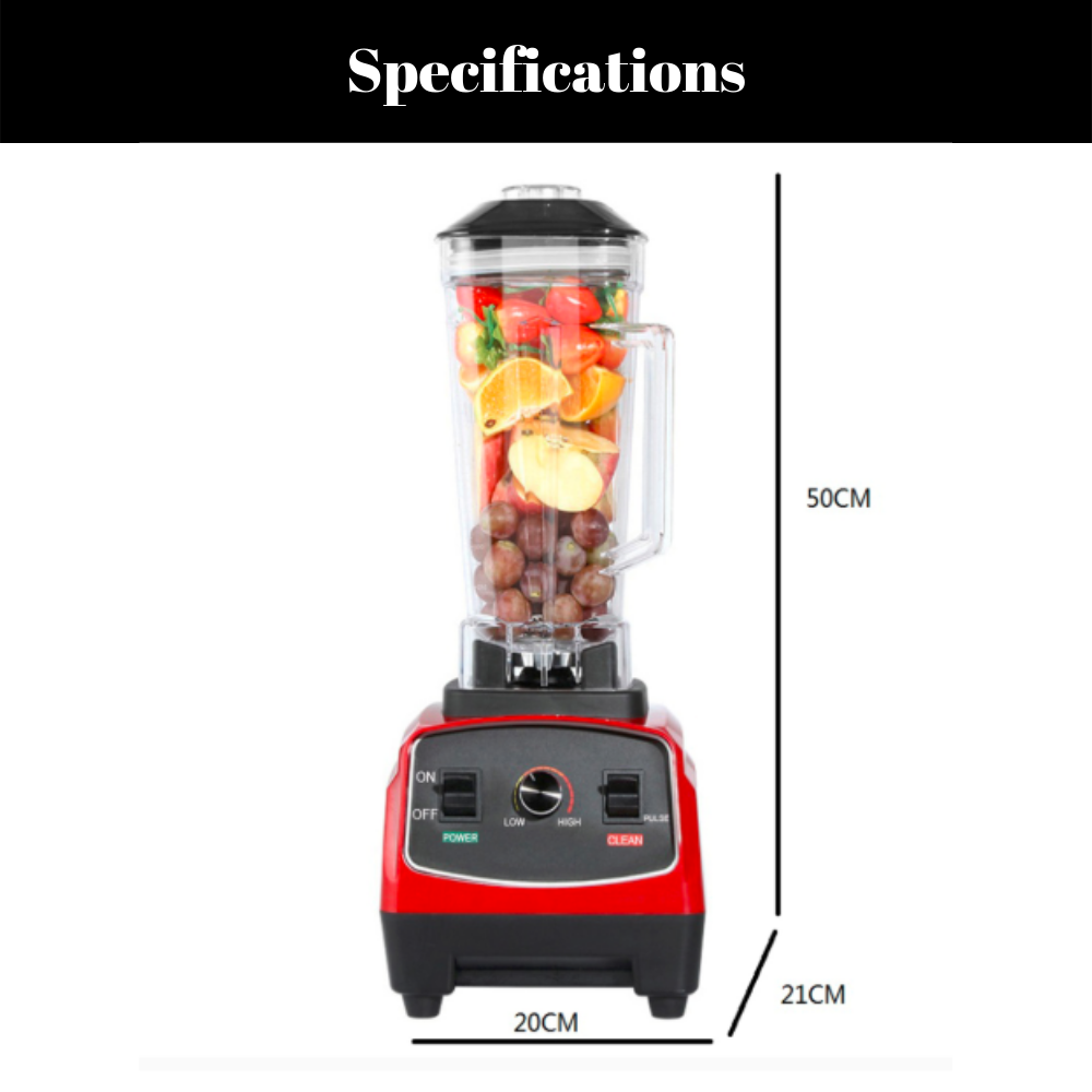 Heavy Duty 1.5 Litre Commercial Blender & Smoothie Mixer