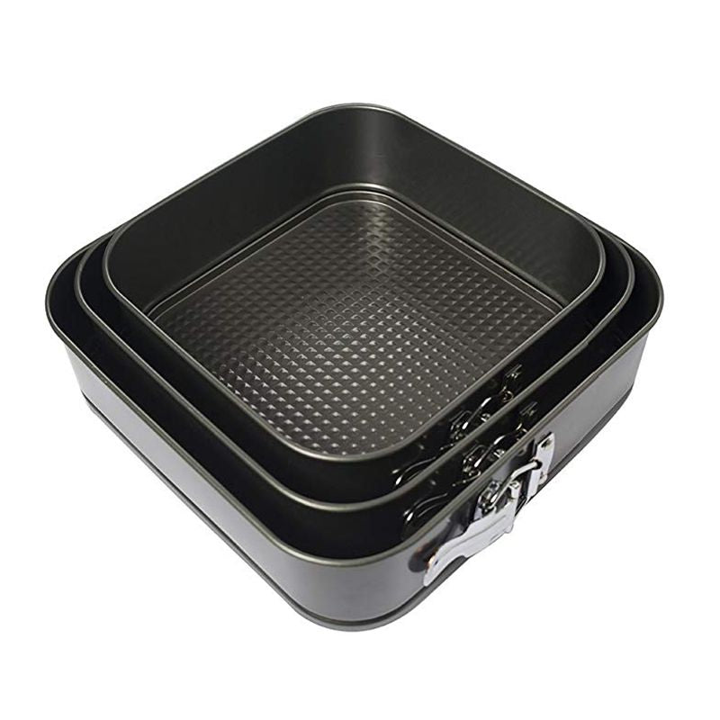 Square Springform Cake Pan Set - Chef's Quality Baking Tins