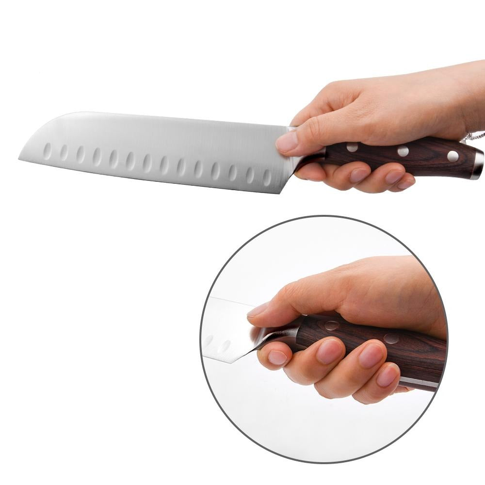 Santoku Chef Knife 178mm - Contoured Classic Series