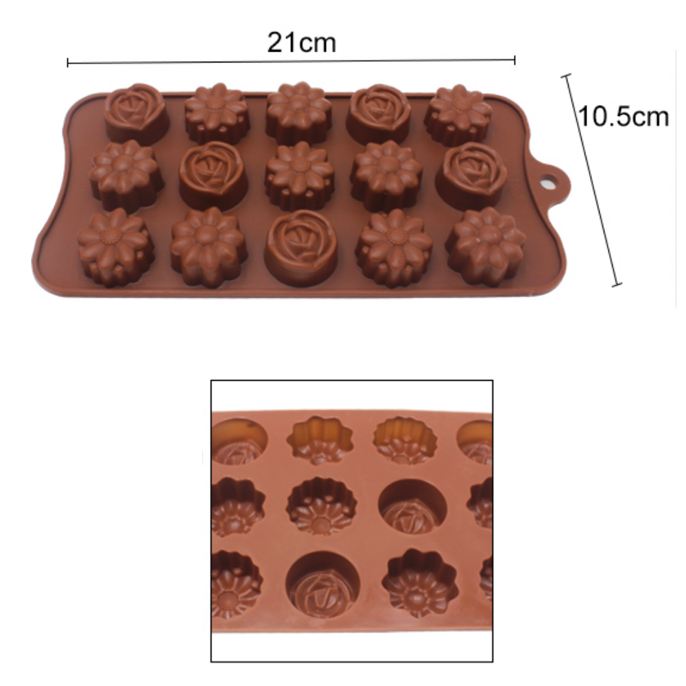 Floral Shaped Silicone Chocolate & Fondant Cake Moulds (Molds)