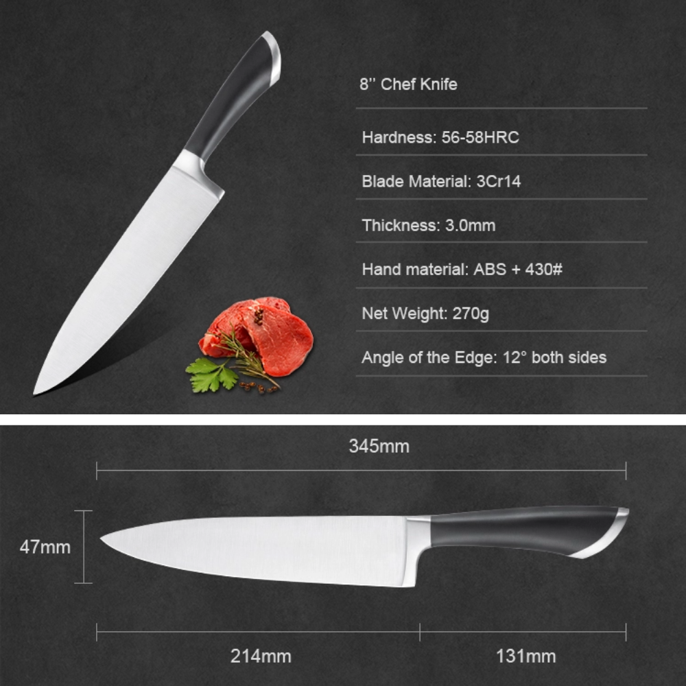 Contemporary Kitchen Chef Knife -  214mm