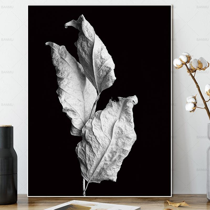 Autumn Leaves - Black and White Art Print-wall art-Chef's Quality Cookware