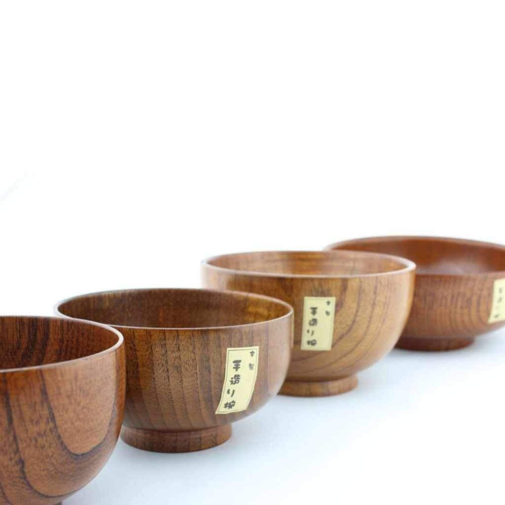 Bowl - Japanese Style Natural Hand-Made Wooden-bowl-Chef's Quality Cookware