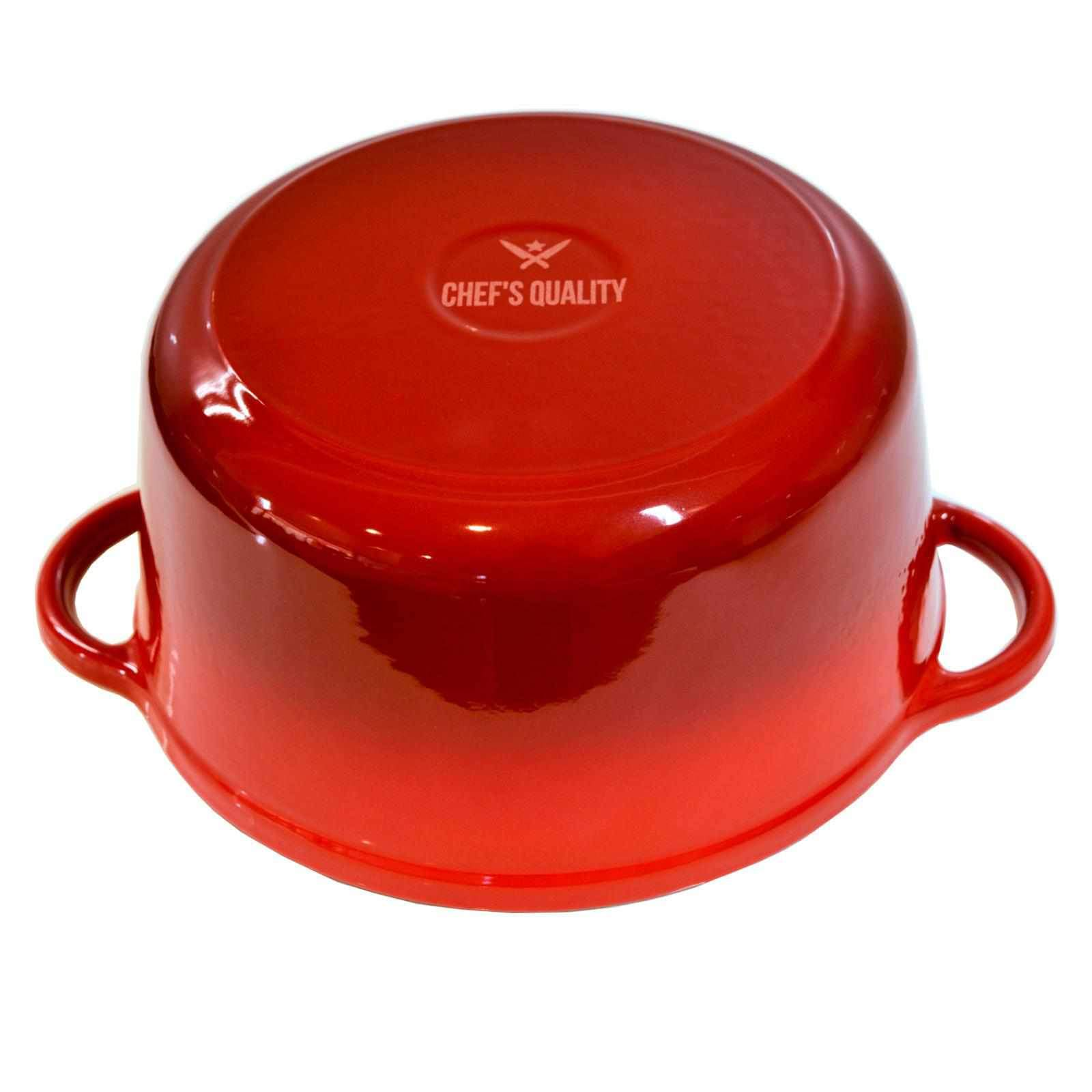 Chef's Quality Cast Iron Enamel Cookware Set - Induction Compatible-Cookware Set-Chef's Quality Cookware