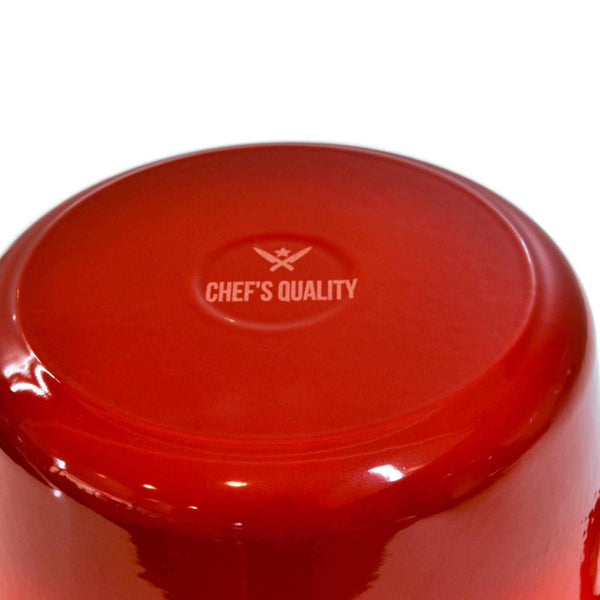 Chef's Quality Cast Iron Enamel Dutch Oven Casserole 24cm (3.2 L)-Cast Iron Enamel-Chef's Quality Cookware