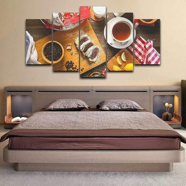 Coffee, Tea, or Cake - 5-Panel Modular Wall Art-wall art-Chef's Quality Cookware
