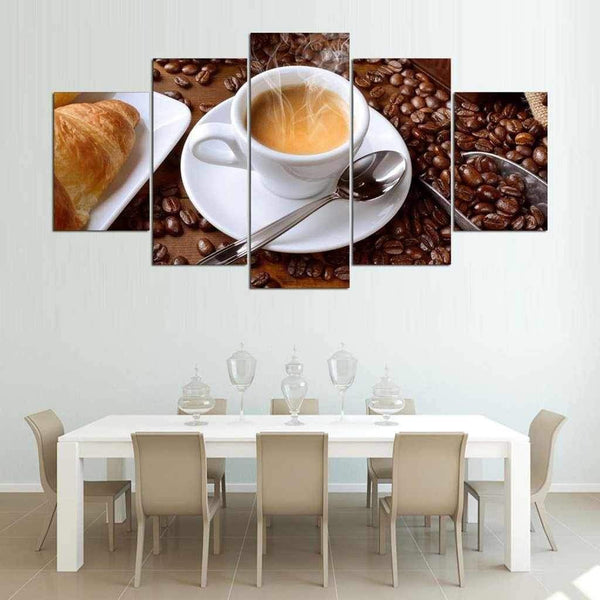 Good Morning Coffee - 5-Panel Kitchen or Dining Room Wall Art-wall art-Chef's Quality Cookware