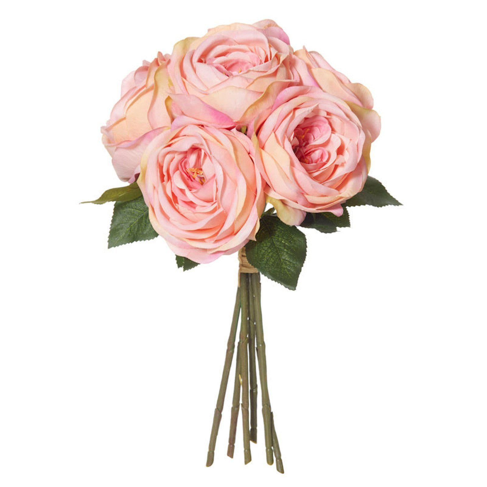 Columbian Rose Bouquet - Artificial Floral Arrangement-artificial flowers and plants-Chef's Quality Cookware