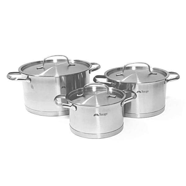 3 Piece Induction Cookware Set