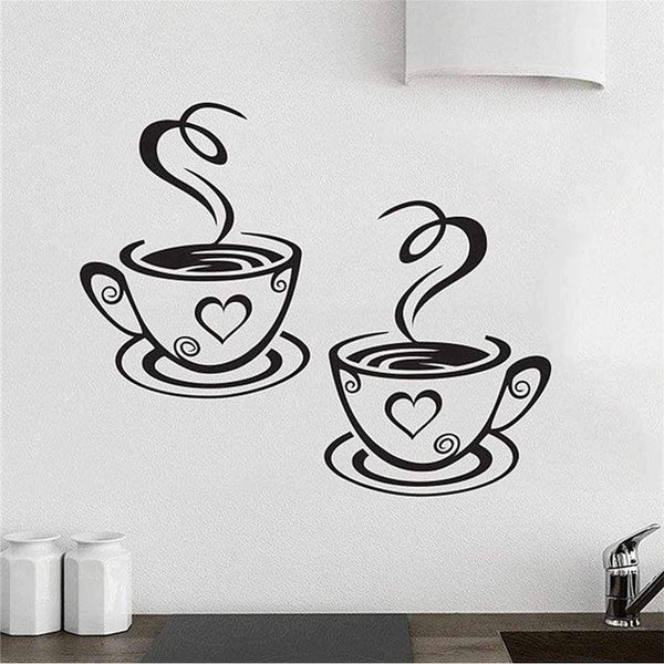 Corner Cafe Vinyl Wall Stickers - Kitchen Wall Art-wall art-Chef's Quality Cookware