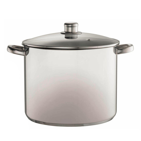 Davis & Waddell 14 Litre Stock Pot With Glass Lid-stock pot-Chef's Quality Cookware