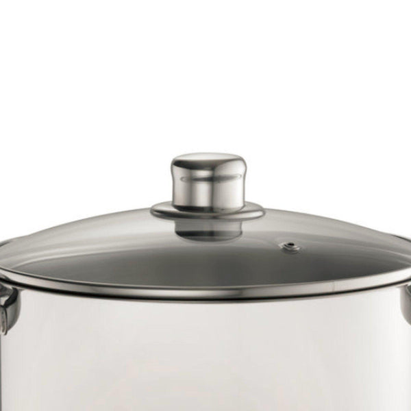 Davis & Waddell 16.5 Litre Stock Pot With Glass Lid-stock pot-Chef's Quality Cookware
