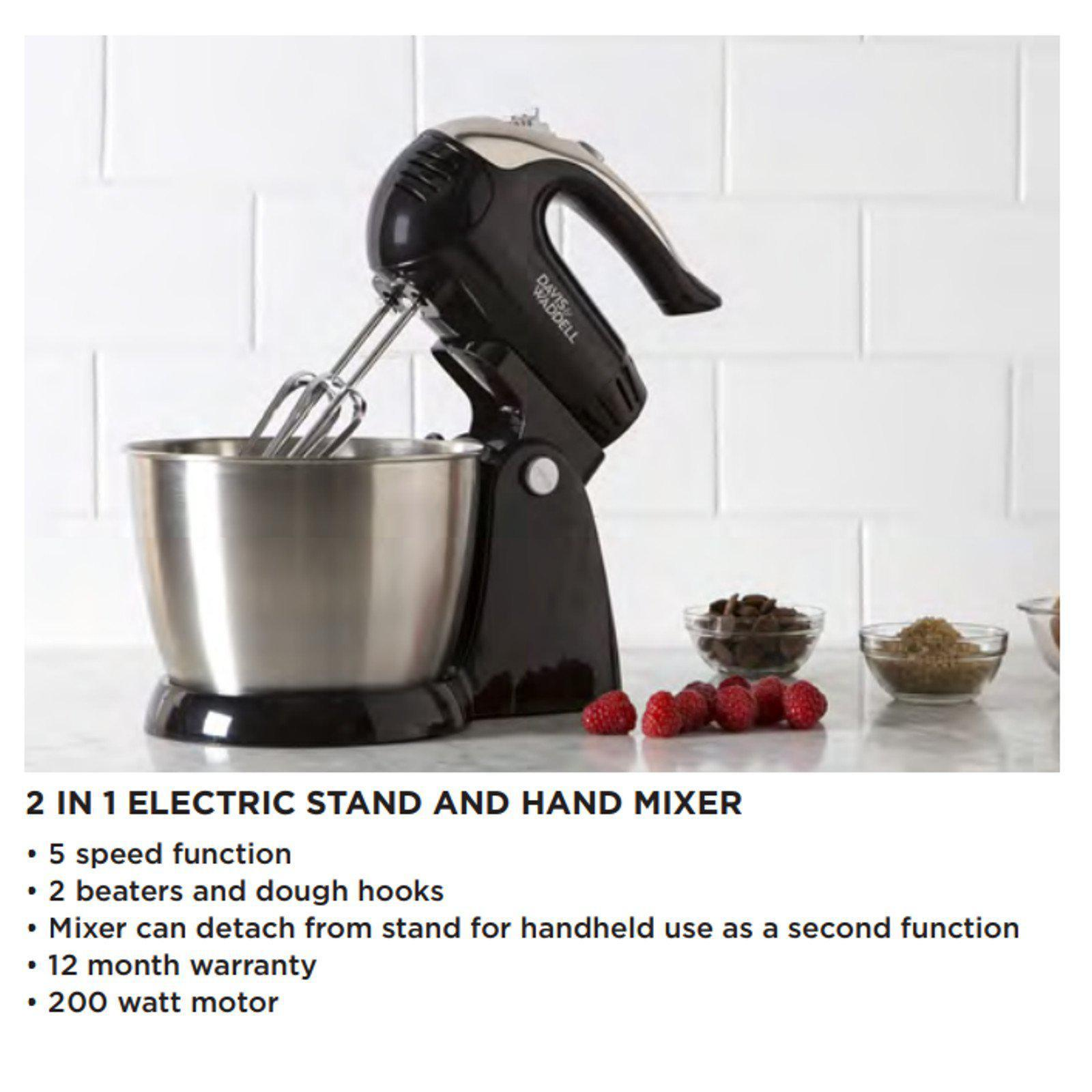 Davis & Waddell 2 in 1 Electric Stand/Hand Mixer-Electric Mixer-Chef's Quality Cookware