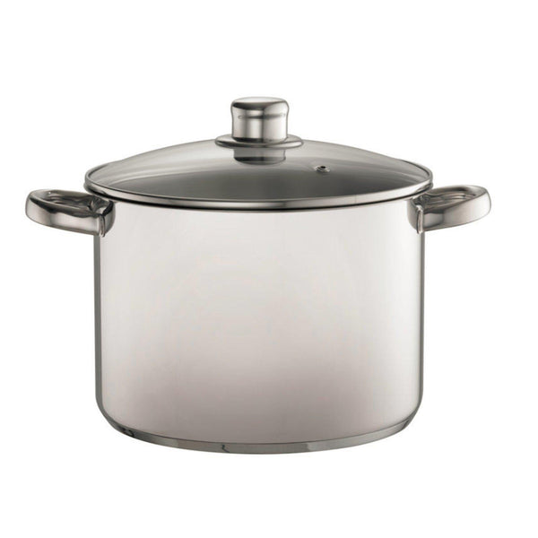 Davis & Waddell 8 Litre Stock Pot With Glass Lid-stock pot-Chef's Quality Cookware