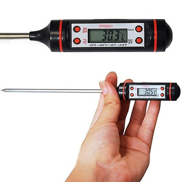 Digital Meat Thermometer - Temperature Food Probe For Kitchen & BBQ Cooking-Cooking Tools-Chef's Quality Cookware