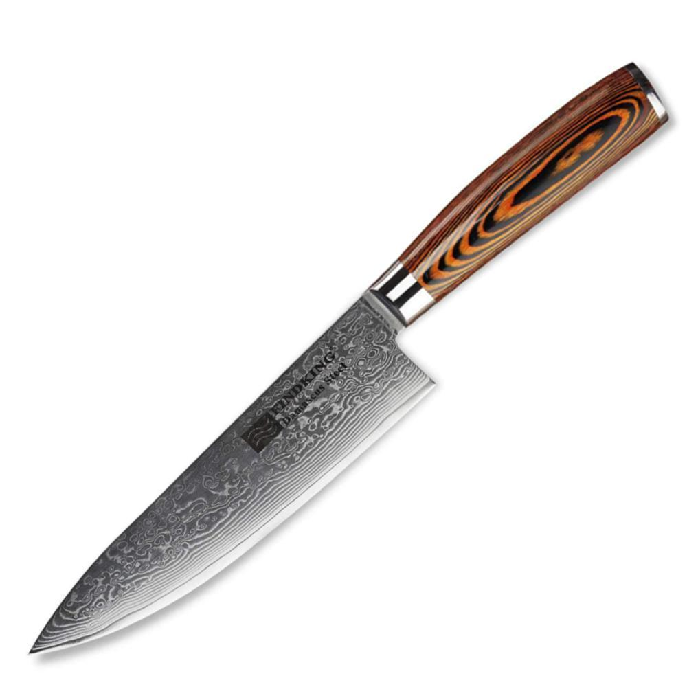 FindKing Damascus Steel Chef Knife (20cm / 8 Inches)-chef knife-Chef's Quality Cookware