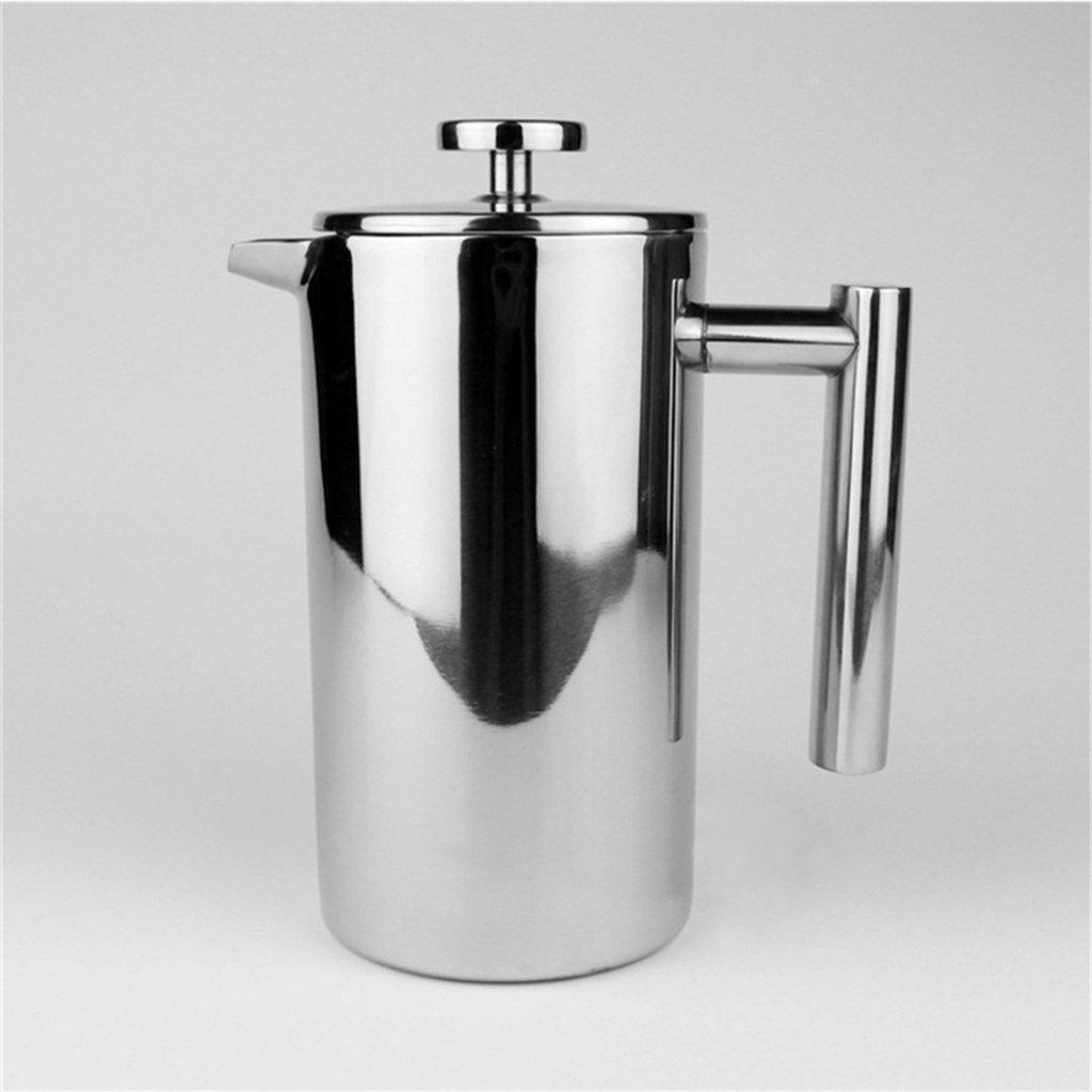 French Press - Stainless Steel Coffee & Tea Maker Double Wall Insulated Cafetiere-French Press-Chef's Quality Cookware