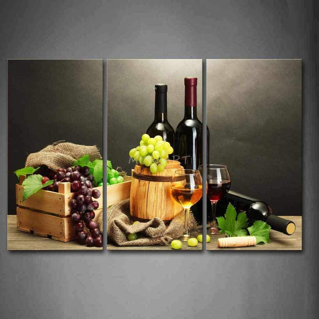 Wine and Grapes - 3-Panel Kitchen Wall Art-wall art-Chef's Quality Cookware