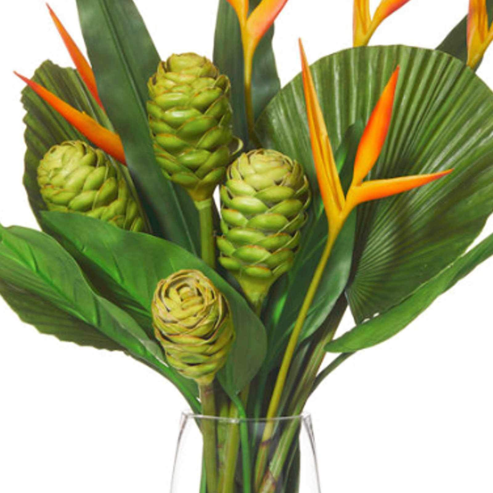 Heliconia Mix-Strata with Vase - Artificial Flower Arrangement-artificial flowers and plants-Chef's Quality Cookware