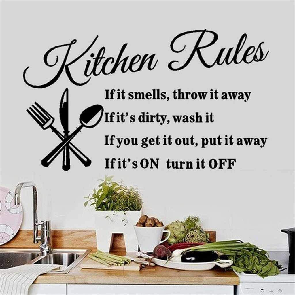 Kitchen Rules Wall Sticker - Wall Art-wall art-Chef's Quality Cookware