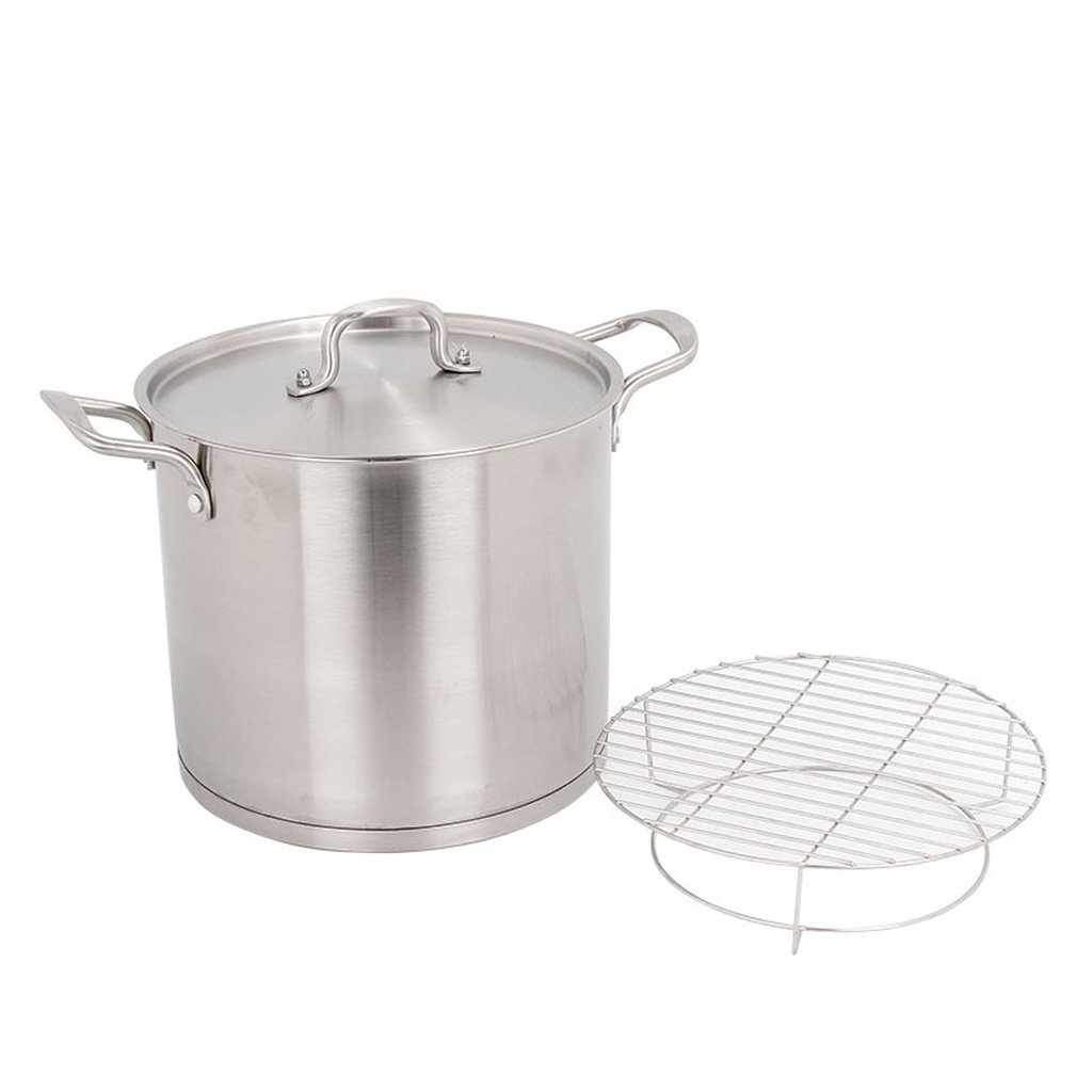Large Stockpot 10l Induction Compatible Stainless Steel Stock Pot Steaming Rack Included Chef S Quality Cookware Kitchenware Shop Online