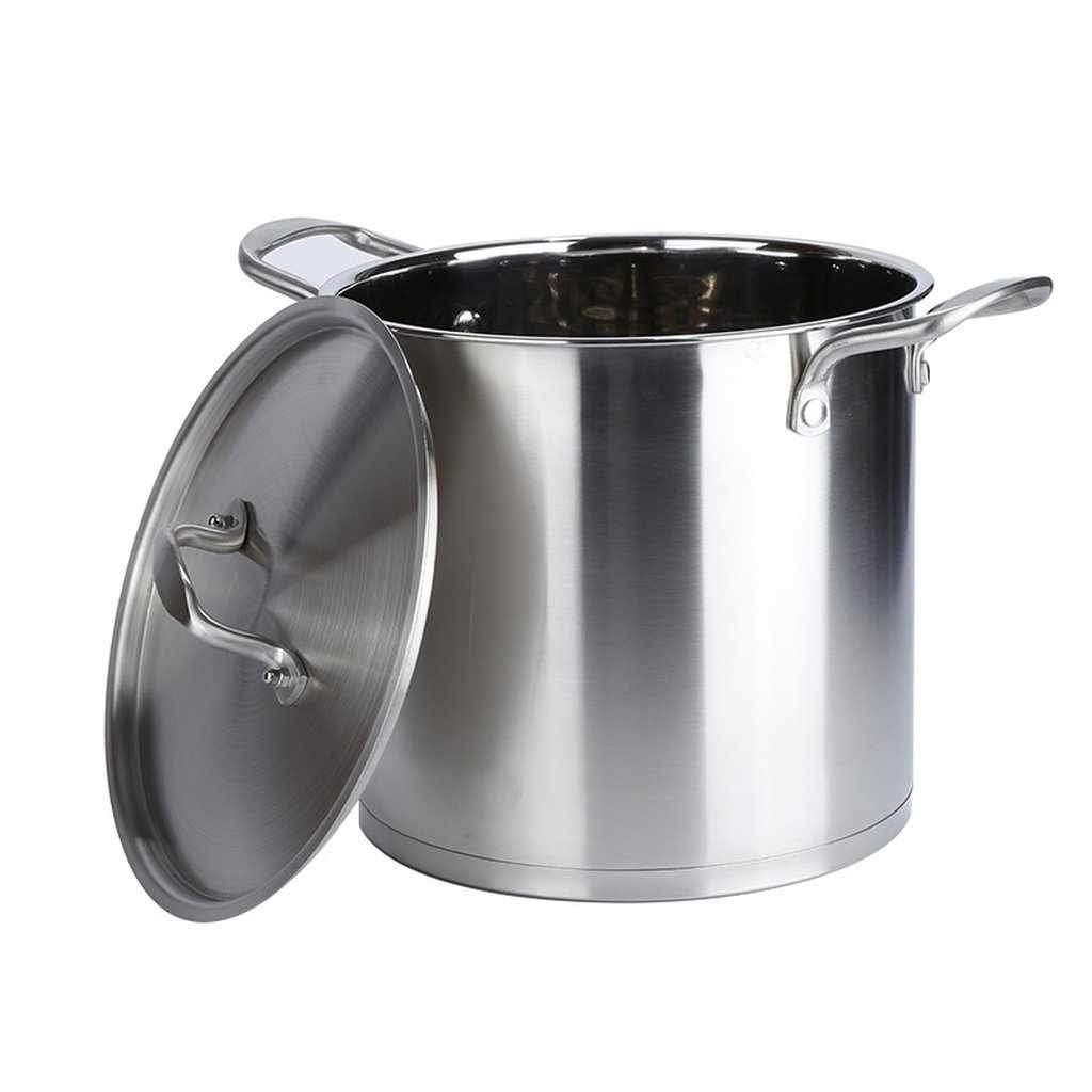 Large Stockpot 10L - Induction Compatible Stainless Steel Stock Pot - Steaming Rack Included-stockpot-Chef's Quality Cookware