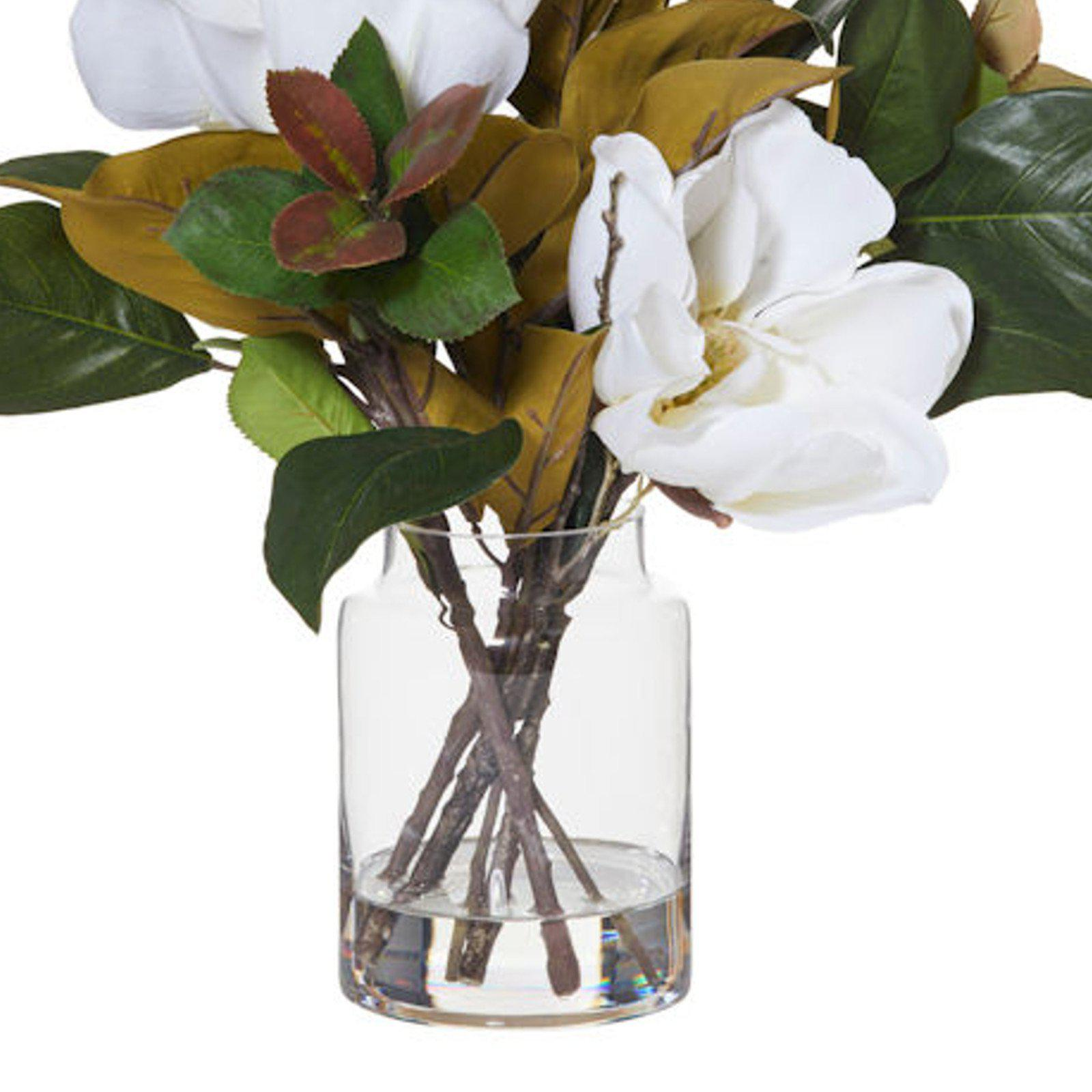 Magnolia Mix With Pail Vase- Artificial Flower / Floral Arrangement-artificial flowers and plants-Chef's Quality Cookware
