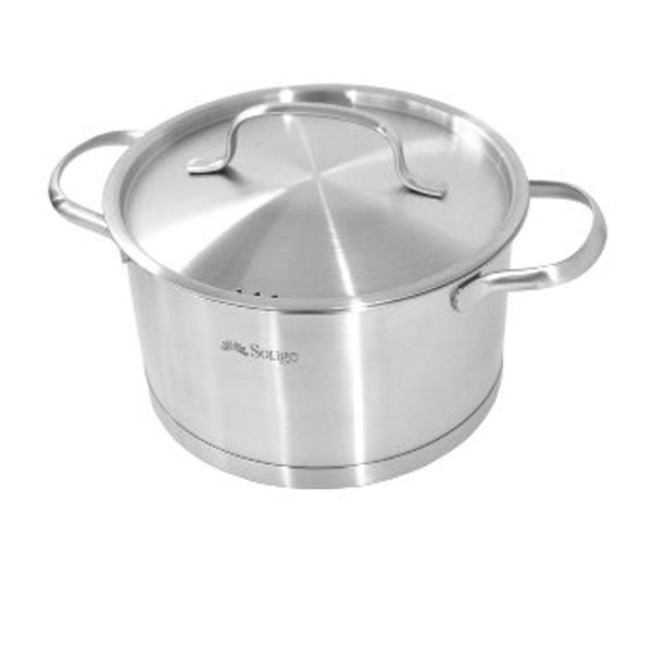 Medium Induction Casserole Pot With Lid - 18 cm Stainless Steel-Stainless Steel Cookware-Chef's Quality Cookware