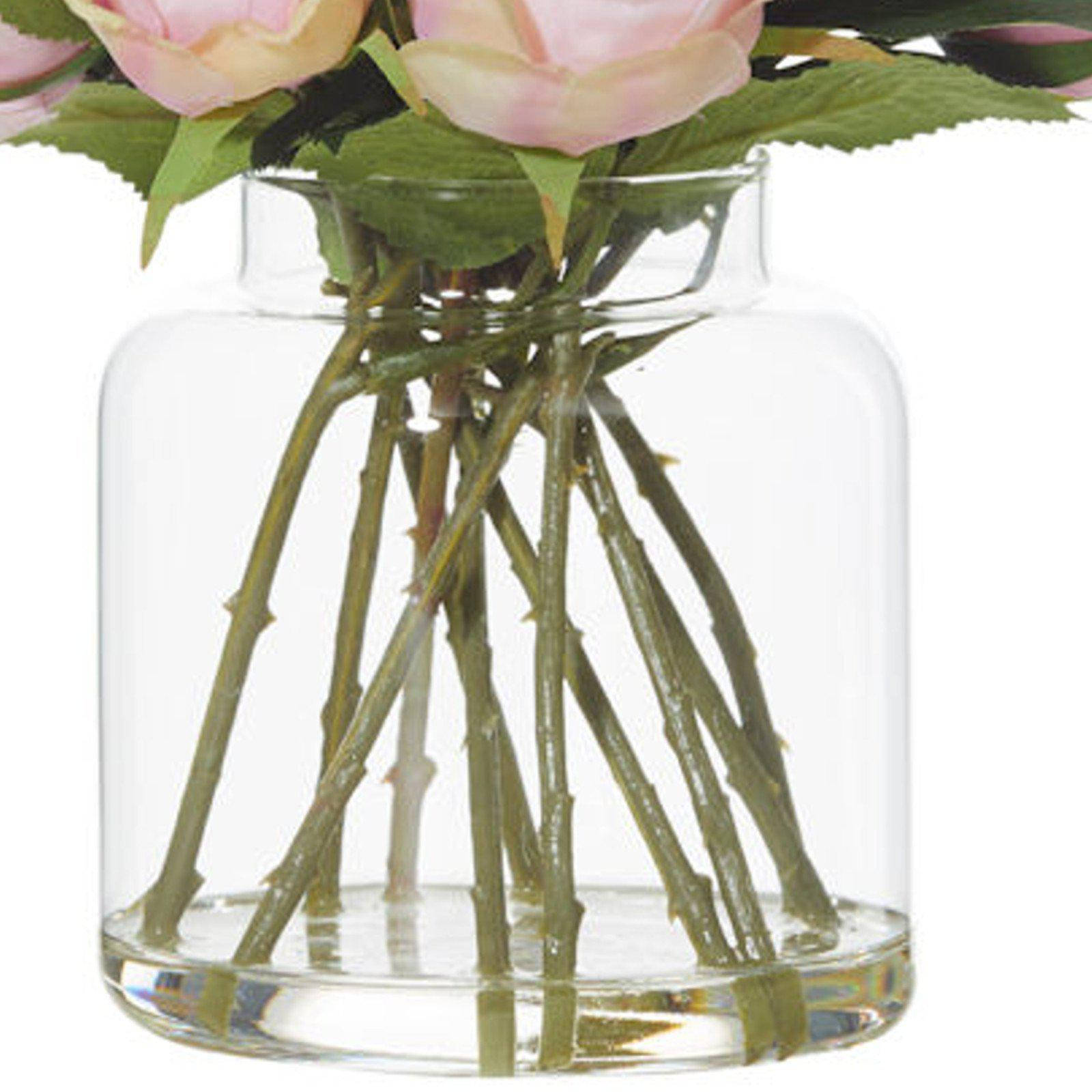 Mini Rose Bouquet With Cara Vase - Artificial Flower / Floral Arrangement-artificial flowers and plants-Chef's Quality Cookware