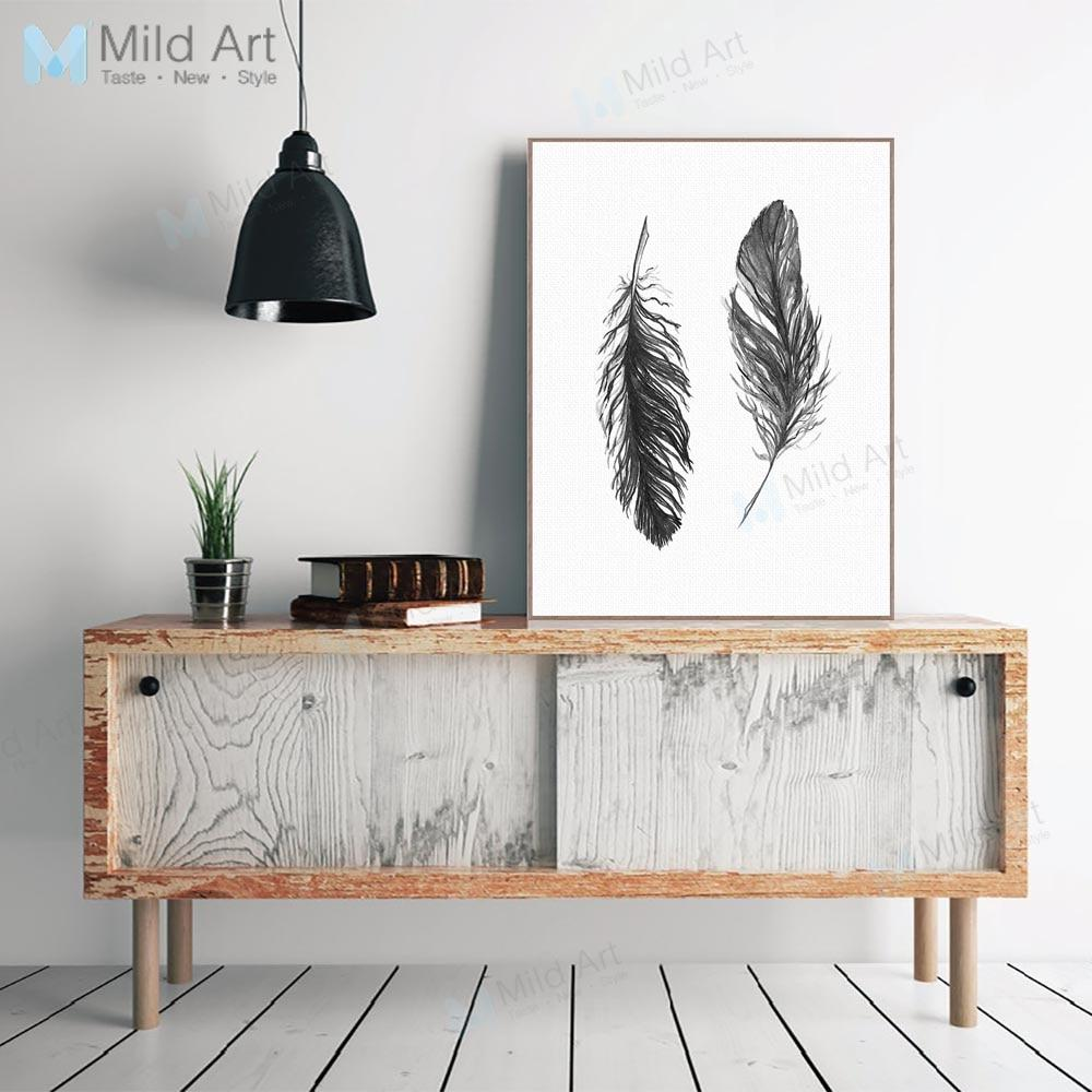 Feathers - Minimalist Canvas Wall Art-wall art-Chef's Quality Cookware
