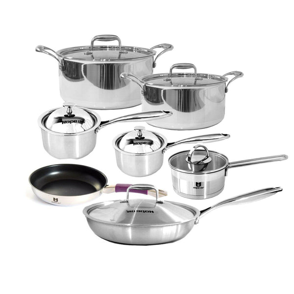 Induction Cookware Set - Stainless Steel Saucepans, Frying Pans & Casseroles-Stainless Steel Cookware Set-Chef's Quality Cookware