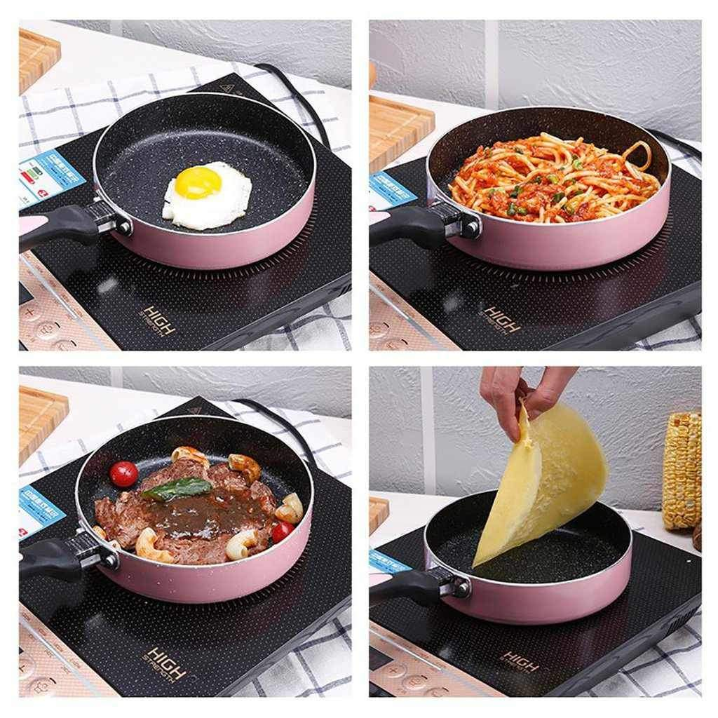 Non-stick Frypan with Ceramic Coating - 18cm Induction Compatible Saute Pan-Frying Pan-Chef's Quality Cookware