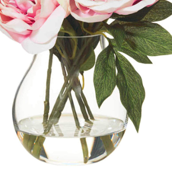 Peony Arrangement with Aria Vase - Artificial Flower Arrangement-artificial flowers and plants-Chef's Quality Cookware