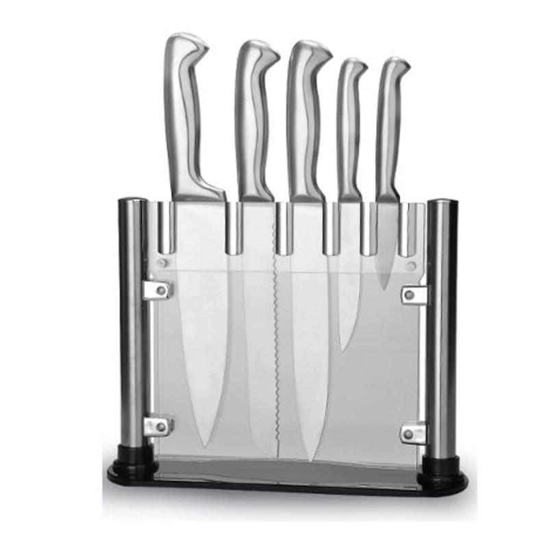 Perfecto Kitchen Knife Block Set - 5 Knives Forged Premium Stainless Steel-knife-Chef's Quality Cookware