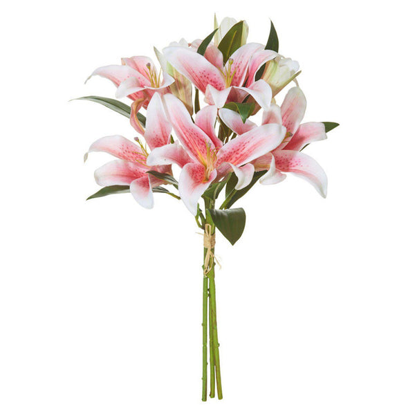 Pink Lily Bouquet - Artificial Flower Arrangement-artificial flowers and plants-Chef's Quality Cookware