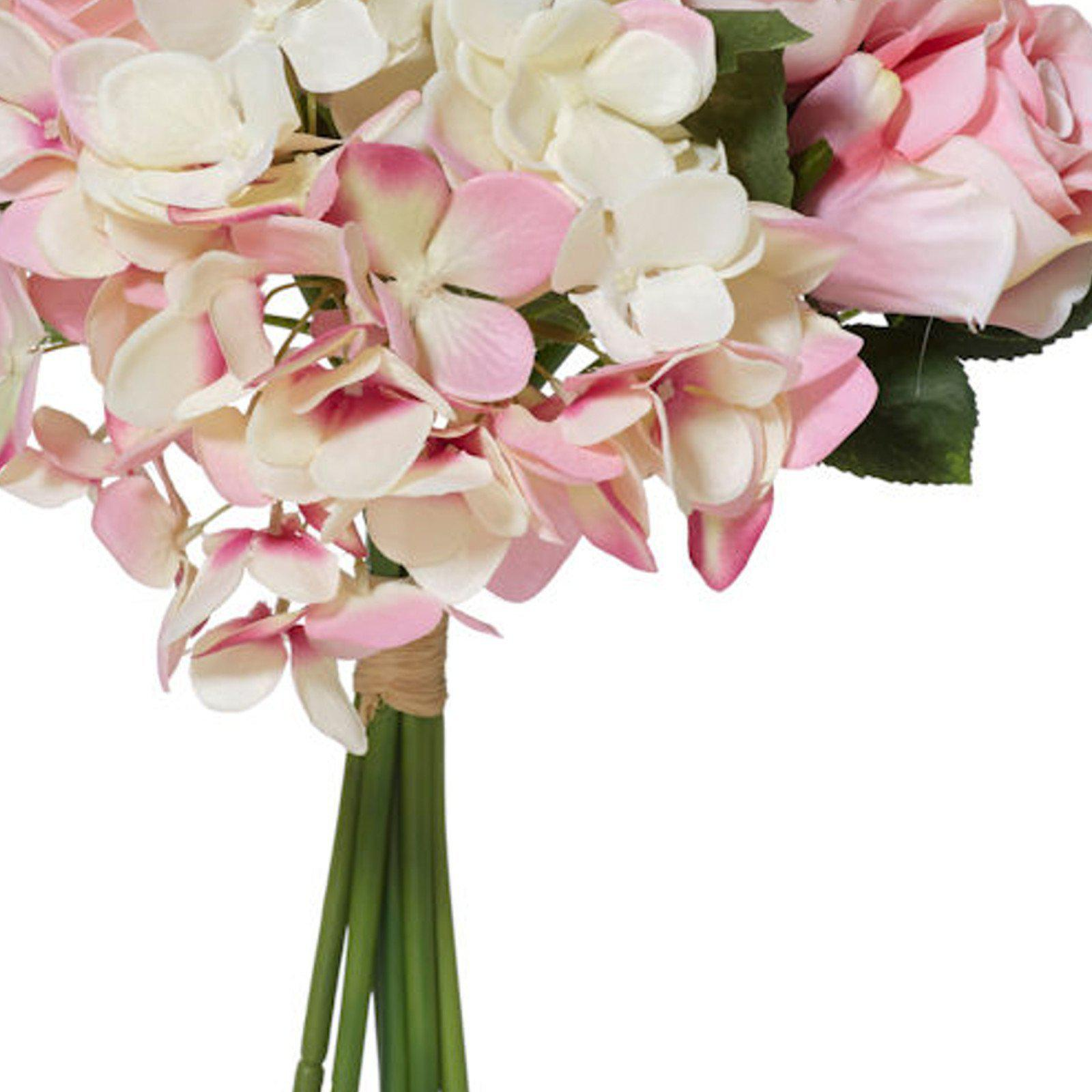 Pink & White Rose/Peony Bouquet - Artificial Flower Arrangement-artificial flowers and plants-Chef's Quality Cookware