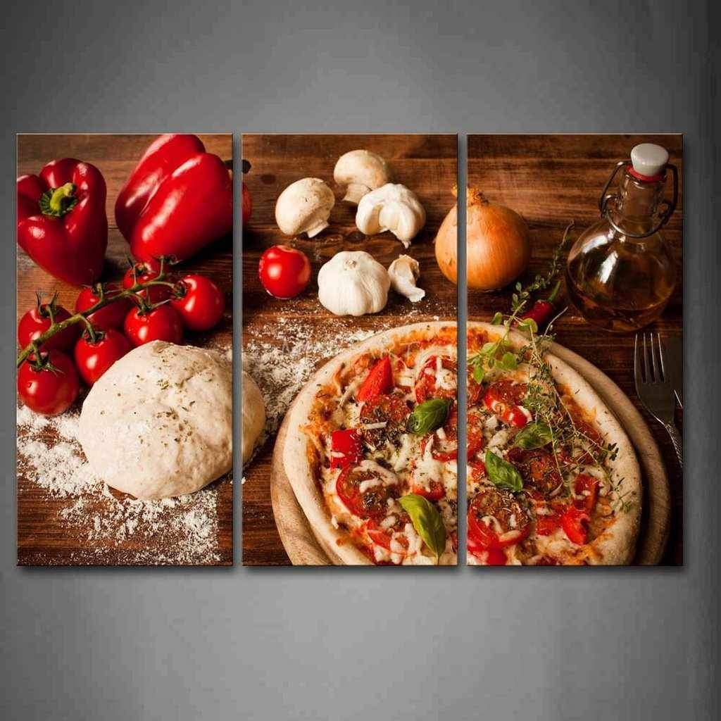Pizza - 3-Panel Kitchen Wall Art-wall art-Chef's Quality Cookware