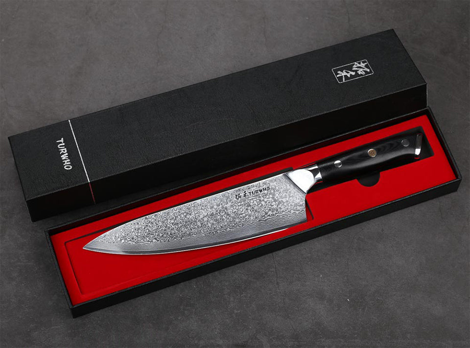 20cm (8 Inch) Chef Knife - High Carbon 67 Layer Damascus & G10 Handle