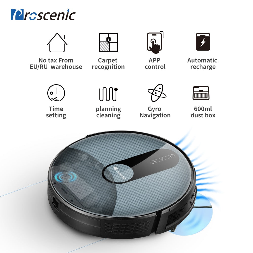 Proscenic Robot Vacuum Cleaner & Mop - 820P Smart Planned Route