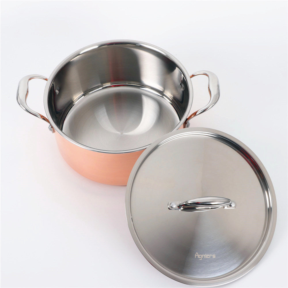 Copper & Stainless Steel Cookware Set