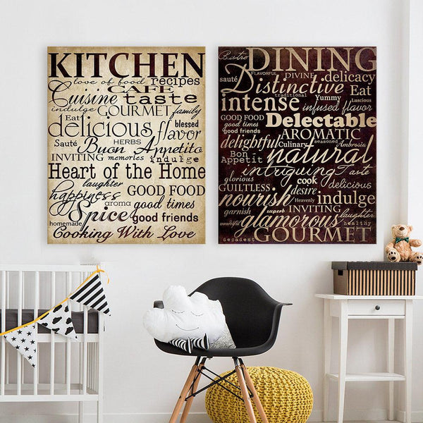 Kitchen & Dining - Canvas Print Pair-wall art-Chef's Quality Cookware