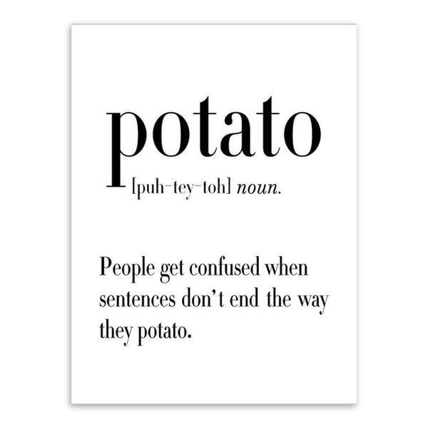 You Say Potato - Witty One-Liner Wall Decor-wall art-Chef's Quality Cookware