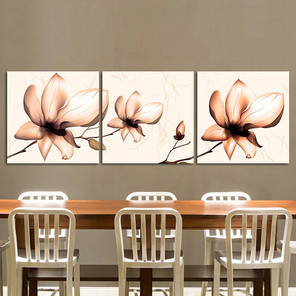 Orchids in Bloom - 3-Panel Canvas Wall Art-wall art-Chef's Quality Cookware