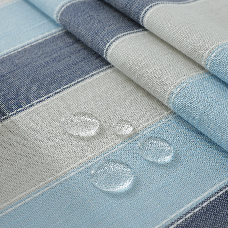 Blue & Grey Striped Tablecloth-Tablecloth-Chef's Quality Cookware