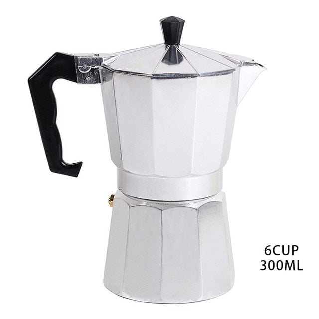 Stovetop Espresso Coffee Maker - Percolator Pot 1 Cup/3 Cup /6 Cup/9 Cup/12 Cup Sizes