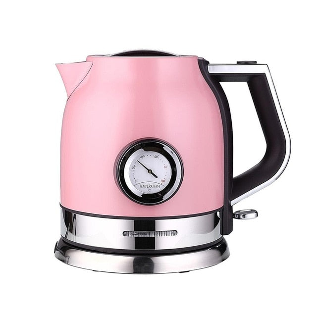 Stainless Steel Electric Kettle With Water Temperature Meter - 1.8 Litres