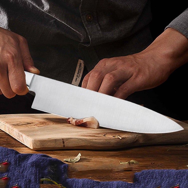 Professional Chef Knife 195mm - Dark Wood Grain Handle